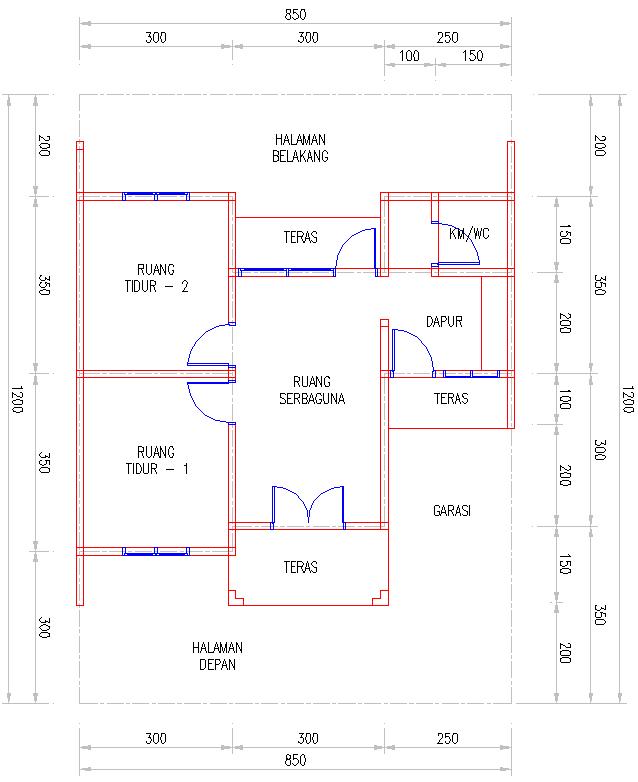 Cara Membuat Denah Rumah Sederhana Dengan Autocad  Desain