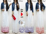 Gamis Katun Bordir + Cardi Jeans SOLD OUT