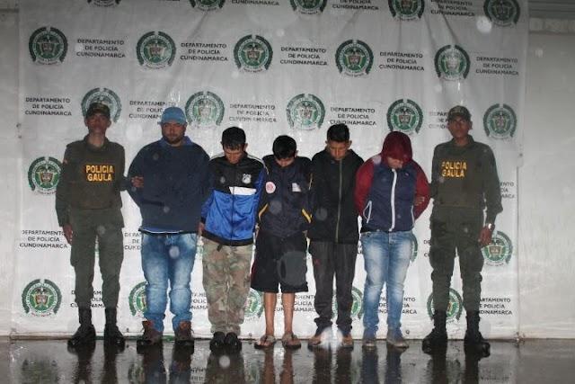 Capturados 5 hombres por el delito de extorsión en Soacha