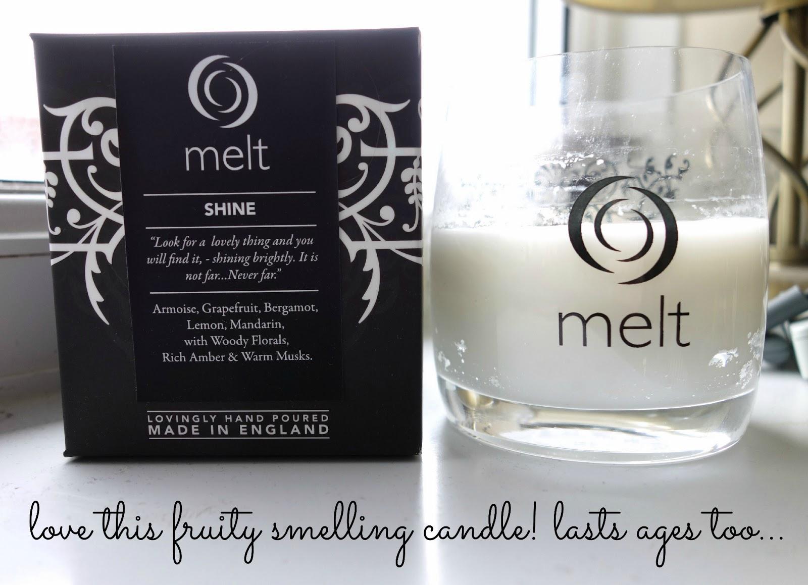 melt candle shine