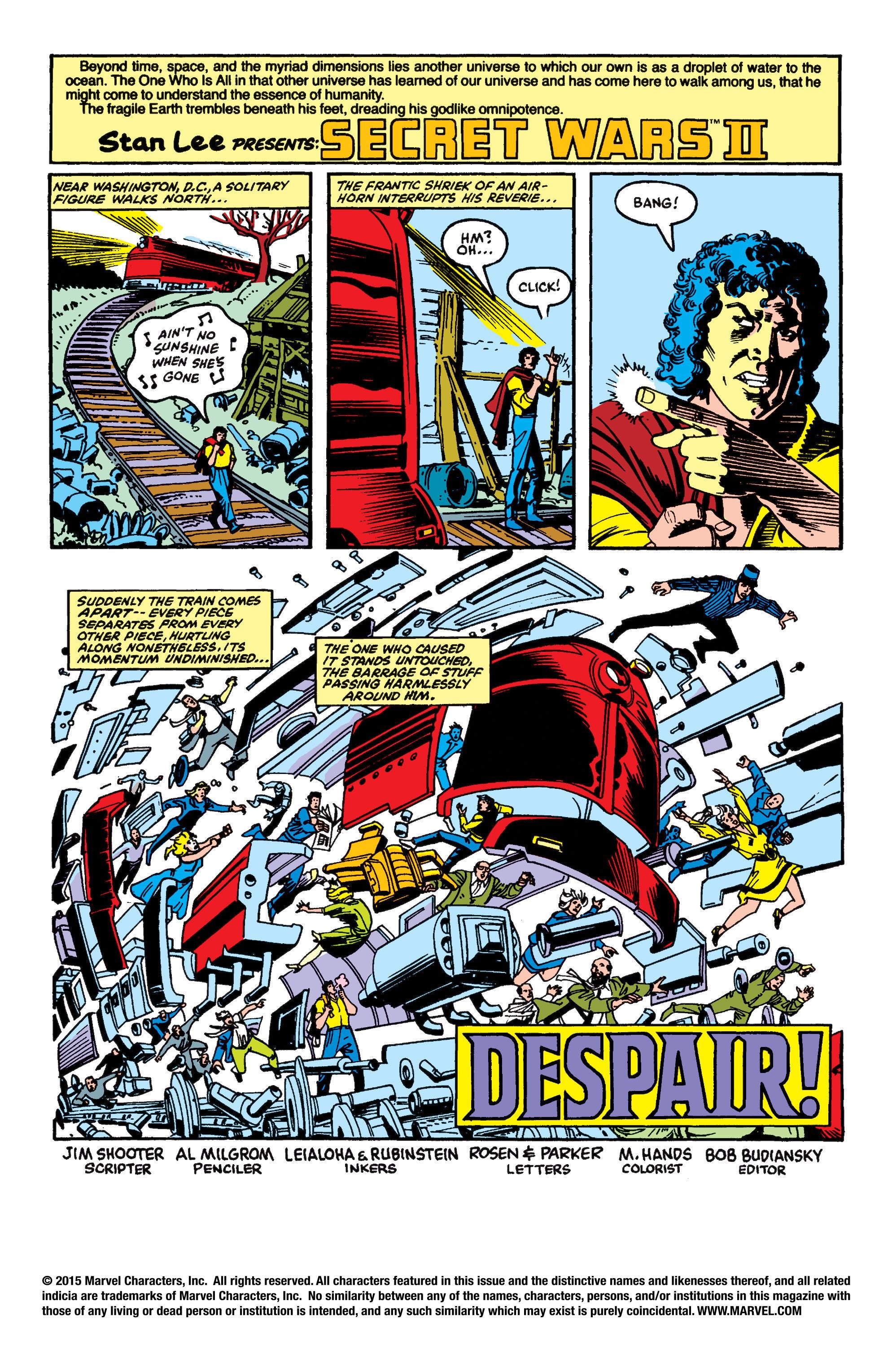 Read online Secret Wars II comic -  Issue #5 - 2