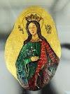 Αγιογραφία σε πέτρα: Η Αγία Αικατερίνη