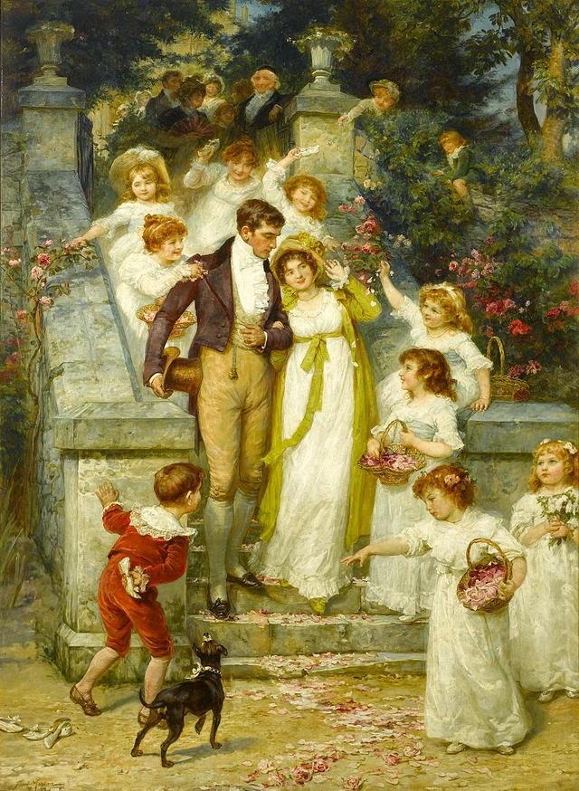 Indo para a Lua de Mel - Frederick Morgan e suas pinturas ~ Pintor de cenas da infância