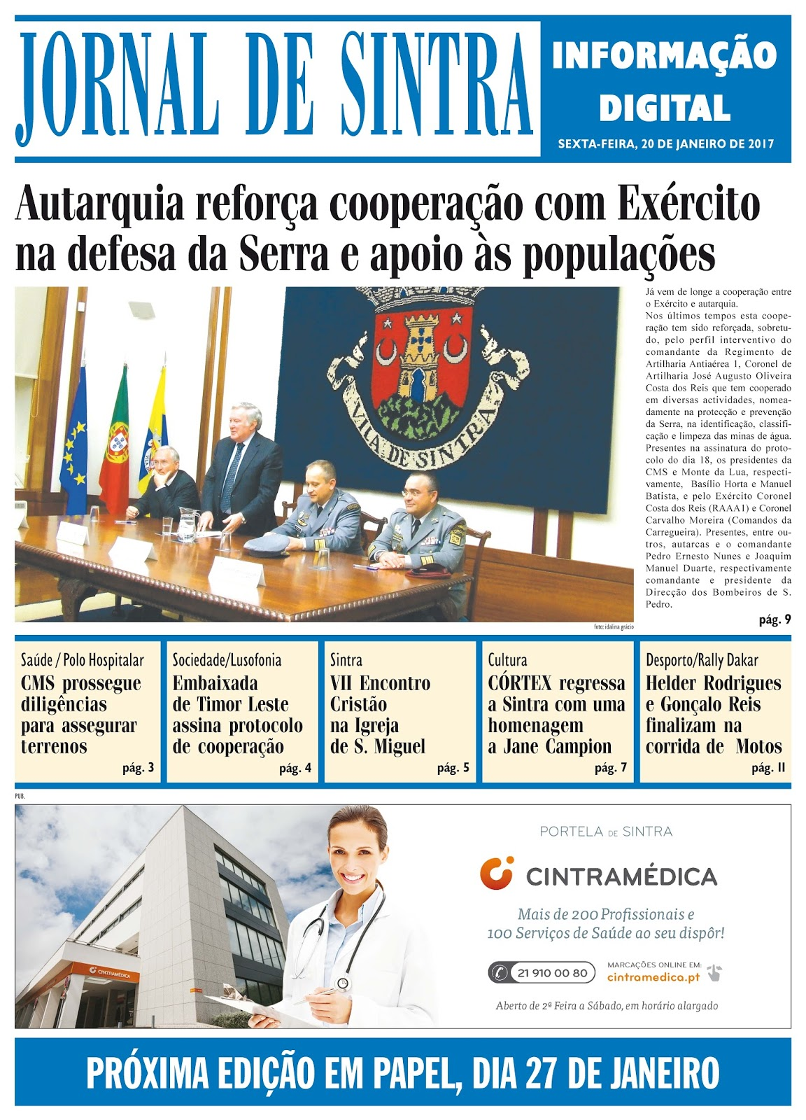 Capa da edição de 20-01-2017