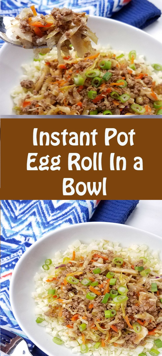 Low Carb Instant Pot Egg Roll In a Bowl Recipe | Dinner Recipes Healthy, Dinner Recipes Easy, Dinner Recipes For Family, Dinner Recipes ground beef, Dinner Recipes For Two, Dinner Recipes Instant Pot, Dinner Recipes Beef, #dinner #lowcarb #instantpot #eggroll #bowl #groundbeef #dinnerrecipe #lowcarbdinner