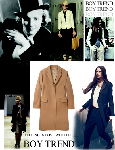 Fashion trend - boyfriend and mannish style