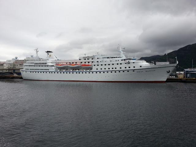 Cruise ship Ocean Majesty in Bergen, Norway