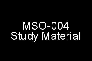 IGNOU MSO-004 Study Material