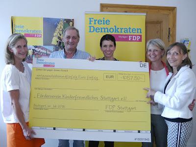 FDP Stuttgart bei Charityaktion 24h Kinderlauf