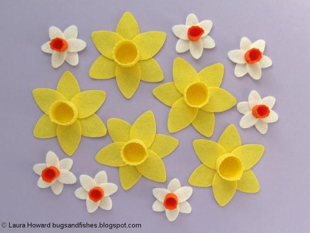 felt daffodils and narcissi