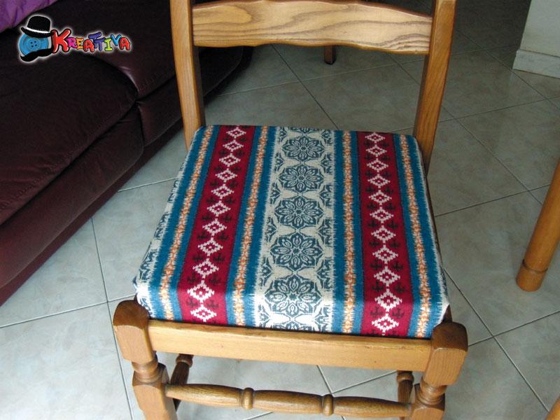 Come rinnovare la seduta delle sedie senza cucire - Tappezzare una sedia ...
