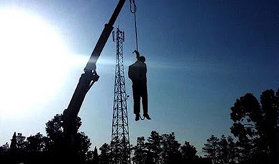 Man publicly hanged 2 weeks after his arrest, Neyshabur, Iran. Sept. 30, 2016