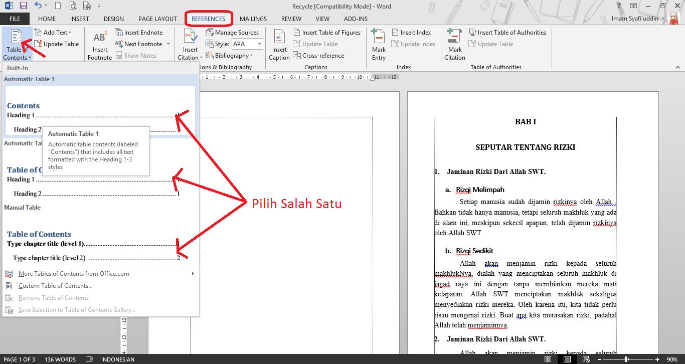 Cara Membuat Daftar Isi Otomatis Pada Office Word   Pro Duck