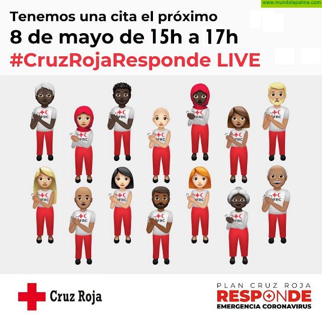 Cruz Roja Española celebra un evento en directo en sus redes sociales #CruzRojaRespondeLive