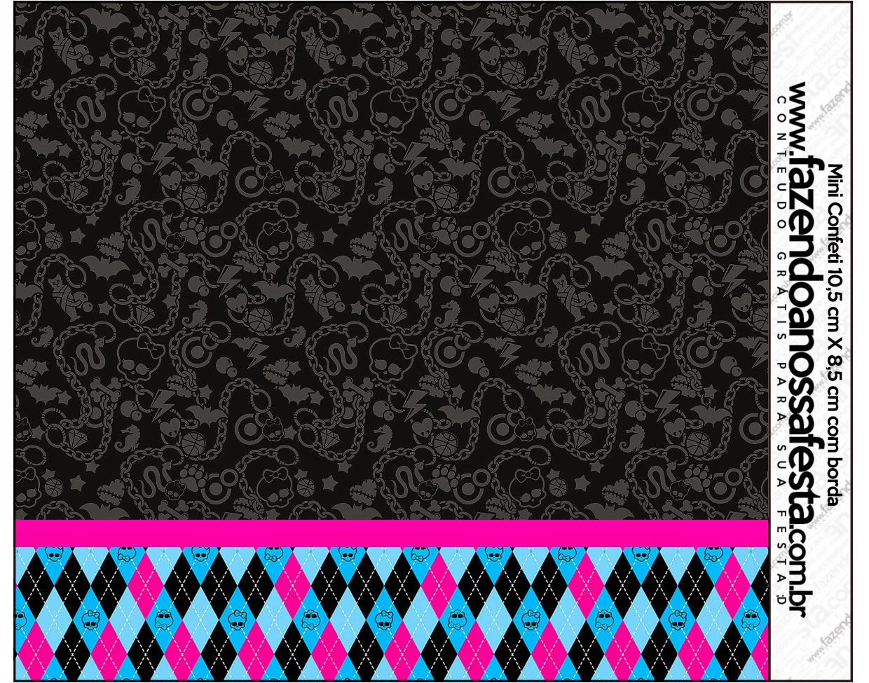 Monster High With Black Background Free Printable Candy