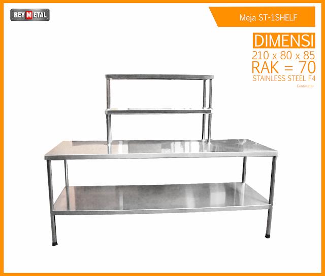 Meja Dapur Stainless untuk Resto