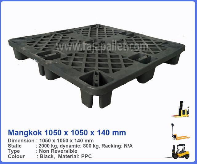 Pallet Plastik Bekas Mangkok 1050 x 1050 x 140 mm