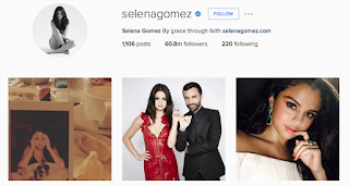 akun instagram Selenagomez