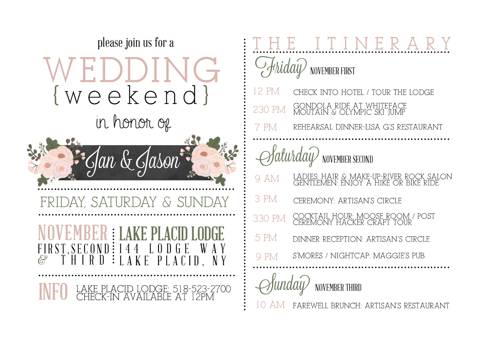 bridal shower itinerary template - search results for baby shower itinerary template