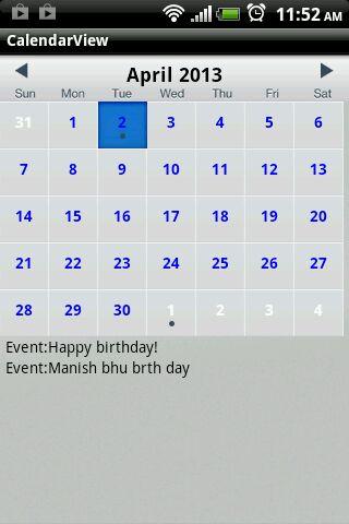 Android Calendar Sync | Android Custom Calendar | Android