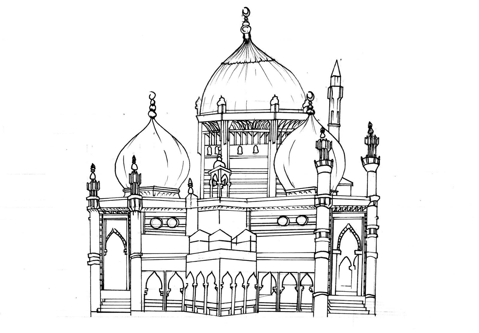 aswaRYUK: Mosque Sketch