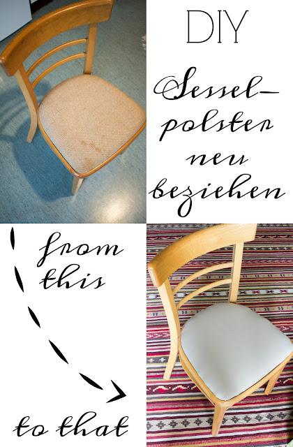 DIY Anleitung - Gepolsterten Sessel neu beziehen