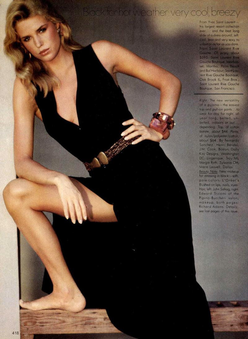 Yves Saint Laurent in Vogue US November 1981 via www.fashionedbylove.co.uk