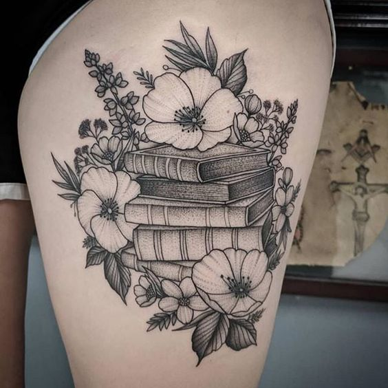 29 Cute Book Tattoos Designs For Girls