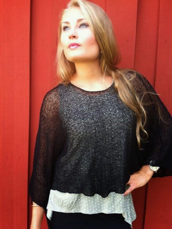 Ponchon Lebar från Ulla Jacobsson i svart