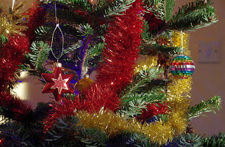 Tinsel on the Christmas Tree