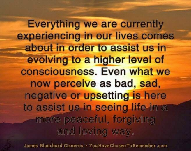 Everything We Are Currently Experience In Our Lives Comes About In