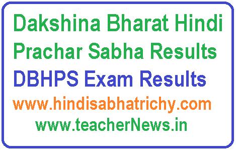 Dakshina Bharat Hindi Prachar Sabha Results 2019 | DBHPS Exam Results at www.hindisabhatrichy.com