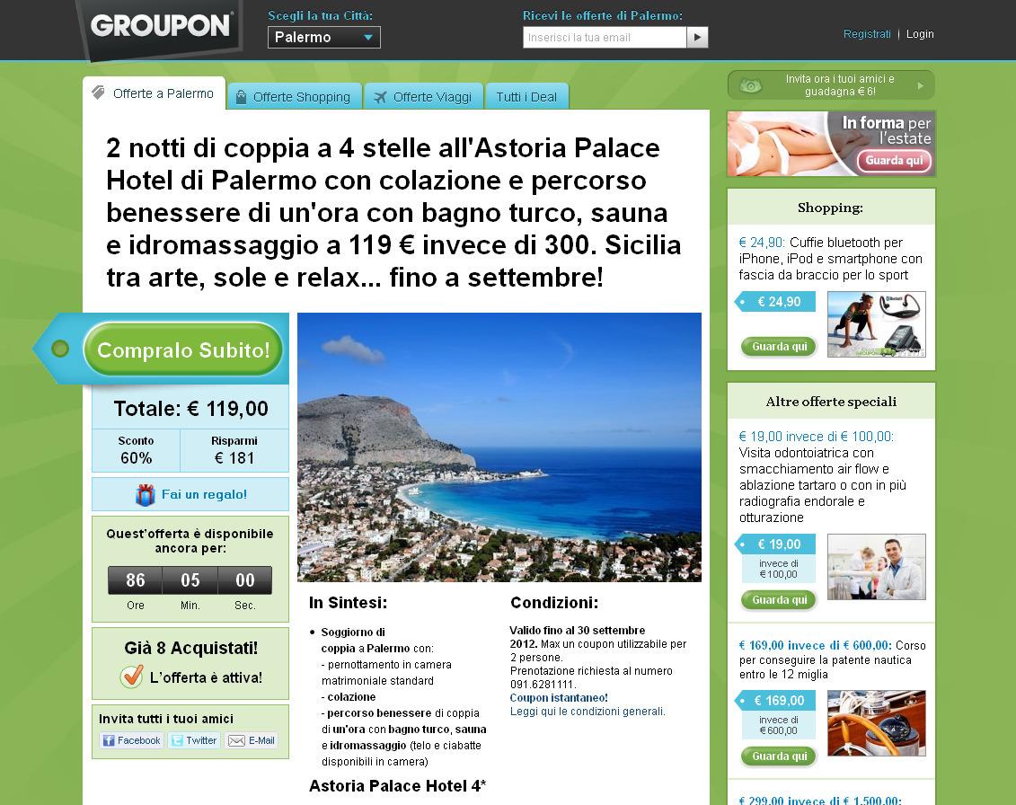 """""""Mondello dall'alto"""" acquistata da Groupon"""