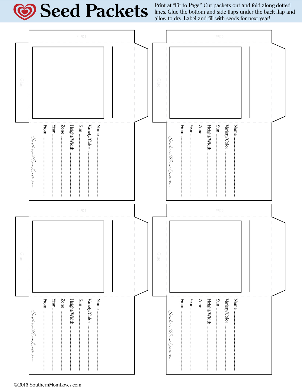 southern mom loves garden heirloom seed packet free printable. Black Bedroom Furniture Sets. Home Design Ideas