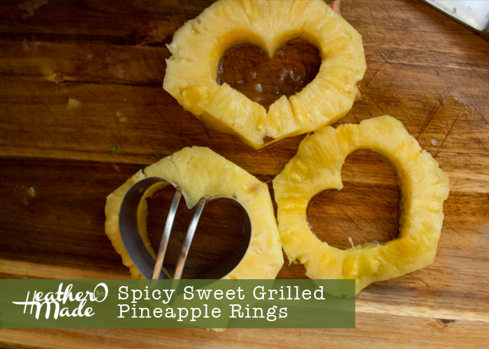 spicy sweet grilled pineapple rings great on grilled steak and chicken.