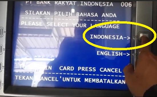Memulai Transaksi di ATM BRI Untuk Ambil Uang 2