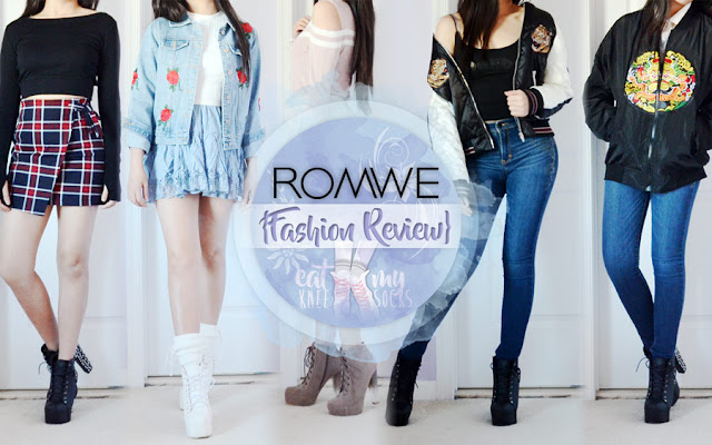 Romwe Fashion Review  Jackets  Plaid Skirts   Cold Shoulder Tops     First of the five items I got from Romwe as part of this mini fashion haul  was an asymmetrical plaid skirt  sold in sizes S L