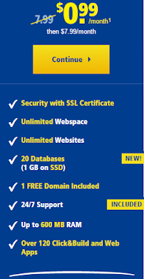 Unlimited Professional Shared Hosting - $0.99/Month