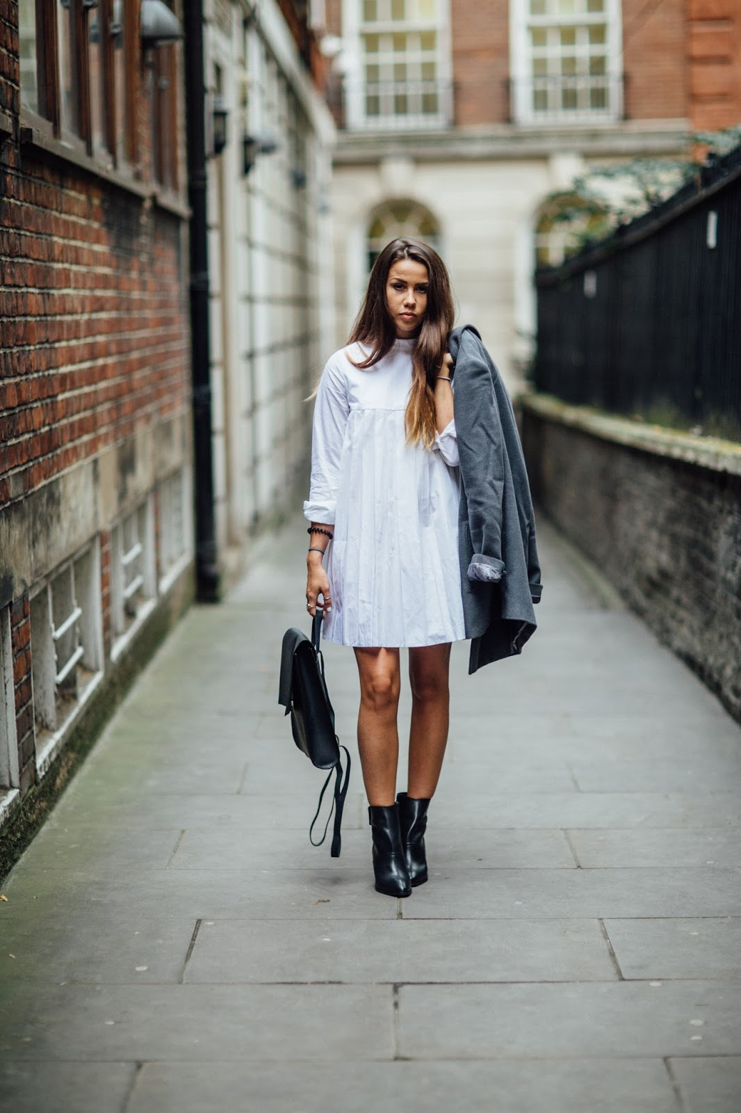 white dress for autumn