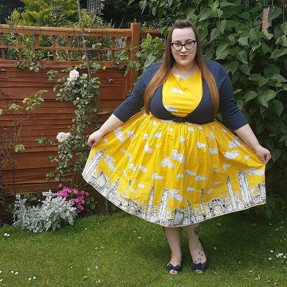 Plus size lindy bop skyline dress