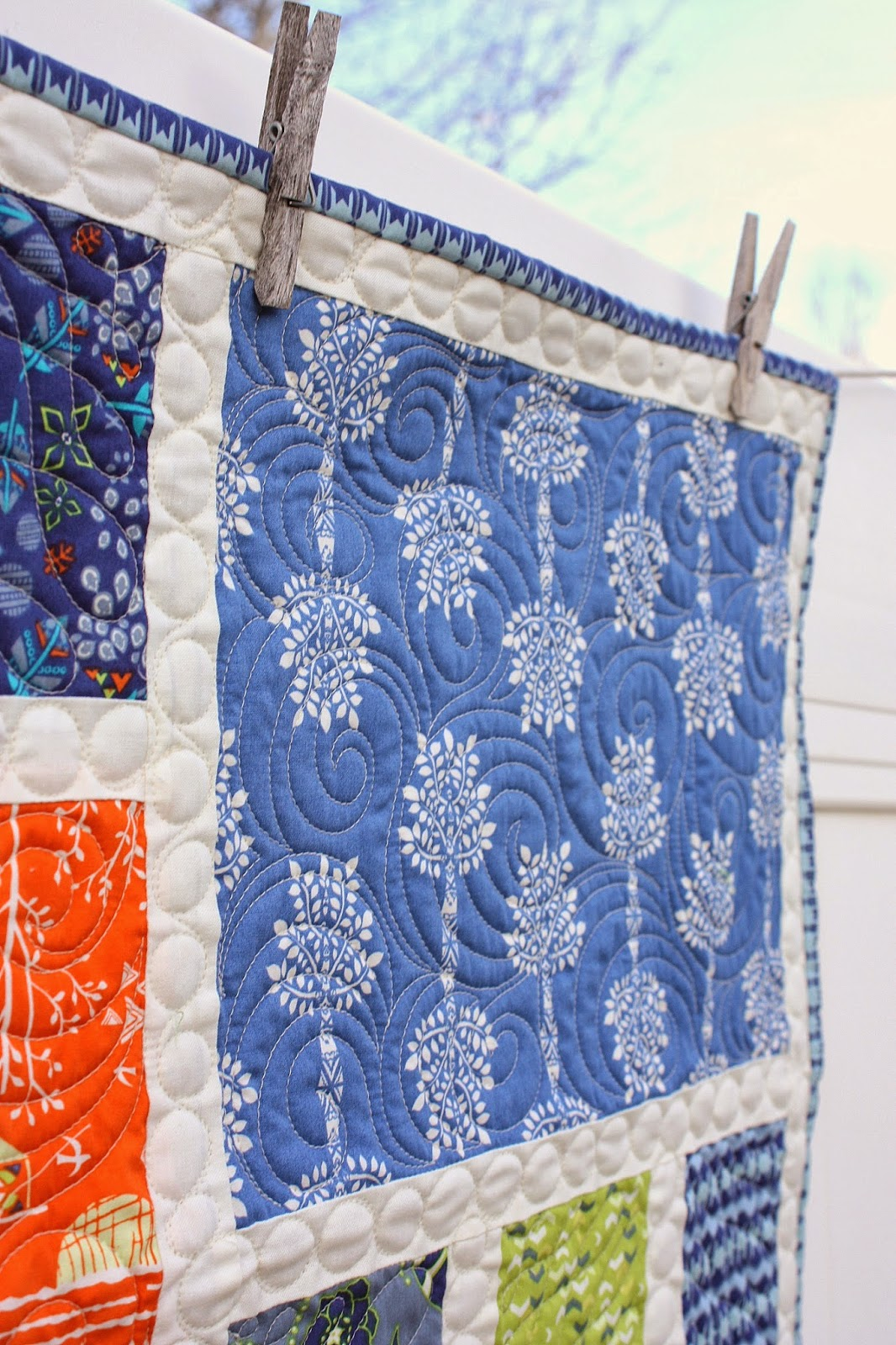 Crib size quilts for sale - The Quilting On This One Was Done Free Hand By Melissa Kelley Of Sew Shabby Quilting I Just Gave Her Free Reign To Do What Ever She Wanted And Love How It