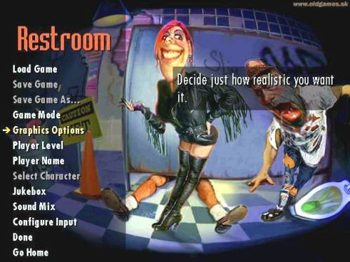 Nostalgia Restroom Game Road Rash 1996