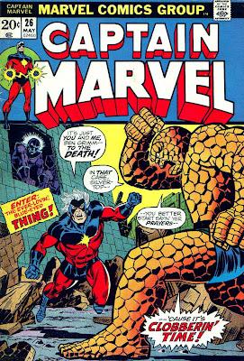 Captain Marvel #26 marvel 1970s bronze age comic book cover art by Jim Starlin