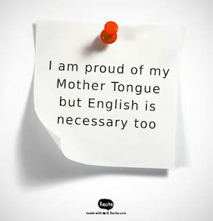 English language creates and impression