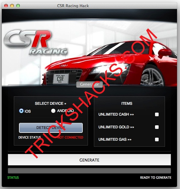 CSR RACING CHEATS HACK TOOL 2013 [ANDROID/iOS] DIRECT DOWNLOAD