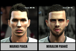 Faces: Marko Pjaca, Miralem Pjanic, Pes 2013