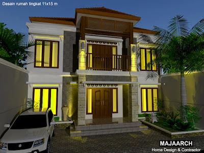 Desain-hunian-rumah-dua-lantai-nan-asri