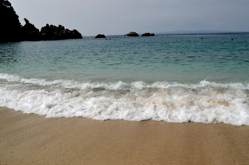 Плажът Саракинико в Парга, Гърция
