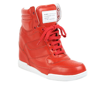 Amazon Red Wedge Shoes