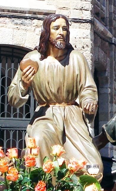 Señor de la Sagrada Cena. León. Hermandad de Santa Marta y de la Sagrada Cena. Foto G. Márquez.